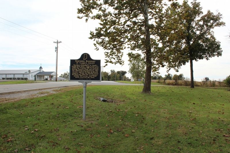 Northern Boundary of Clark's Grant Marker image. Click for full size.