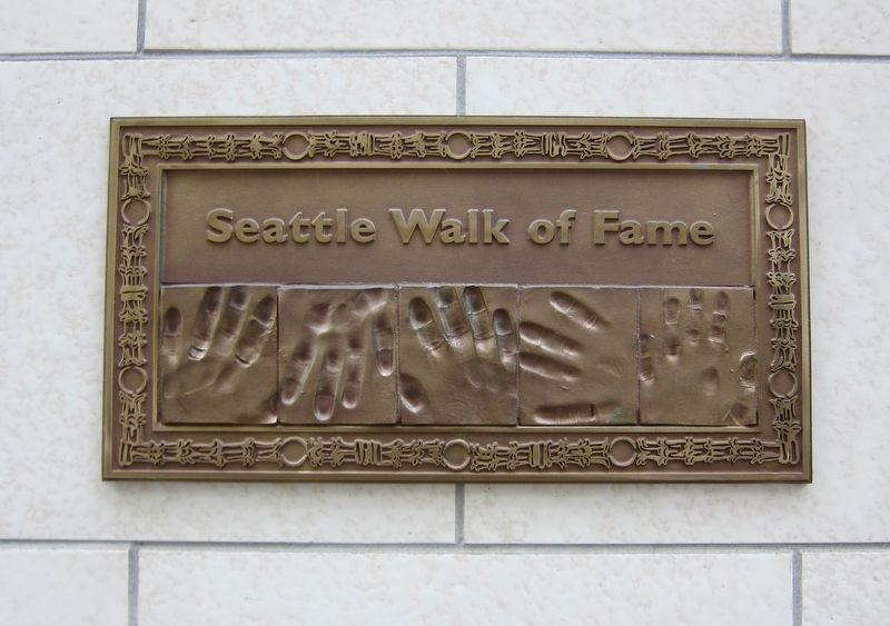 Seattle Walk of Fame Plaque image. Click for full size.