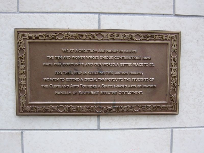 Nordstrom Appreciation Plaque image. Click for full size.