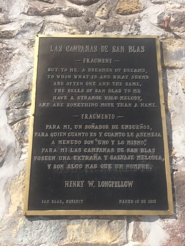 "An additional marker dedicated to Longfellow's poem ""The Bells of San Blas"" image. Click for full size."