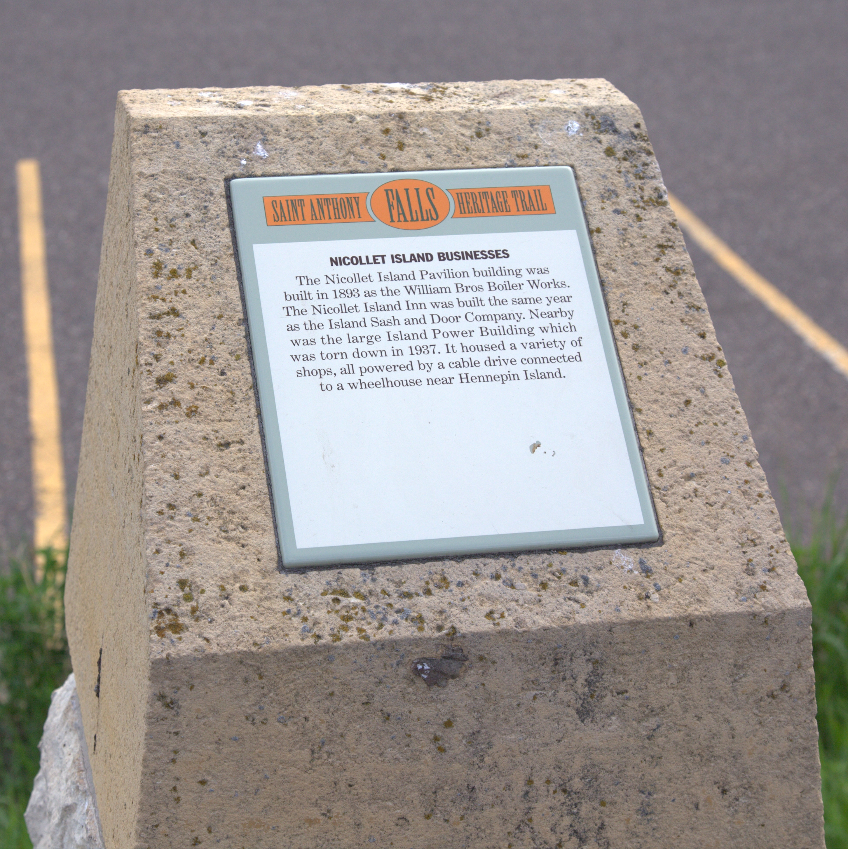 Nicollet Island Businesses Marker