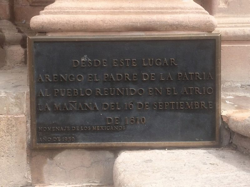 From Here Hidalgo Proclaimed Mexican Independence Marker image. Click for full size.