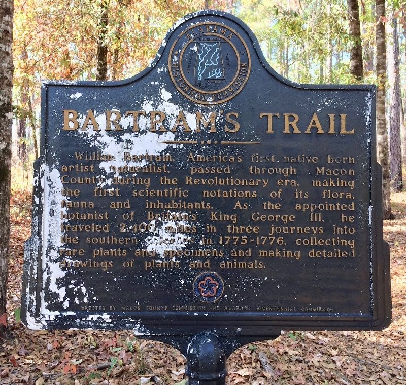 Bartram's Trail Marker image. Click for full size.