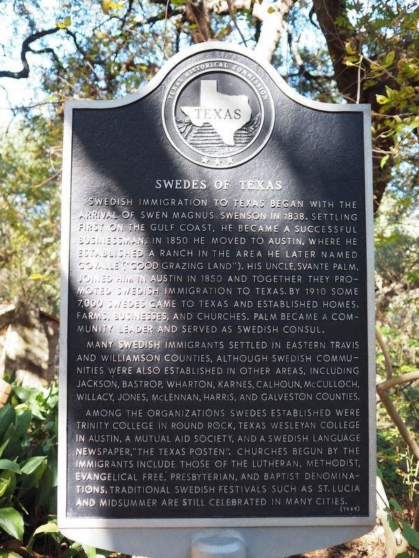 Swedes of Texas Marker image. Click for full size.