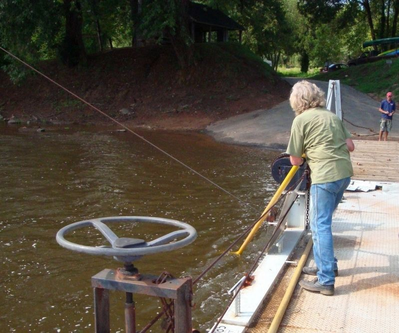 Poling the Hatton Ferry in 2008 image. Click for full size.
