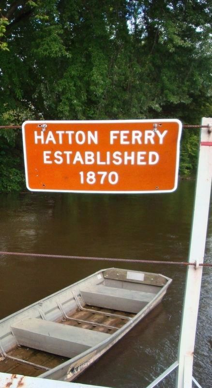 Sign on board the Hatton Ferry image. Click for full size.