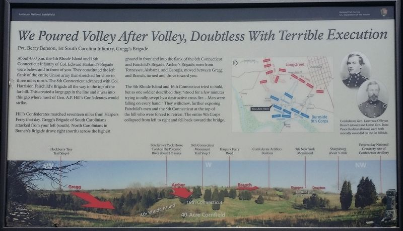 We Poured Volley After Volley, Doubtless With Terrible Execution Marker image. Click for full size.