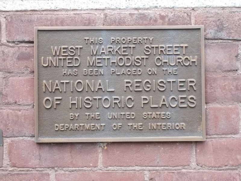 West Market Street United Methodist Church Marker image. Click for full size.