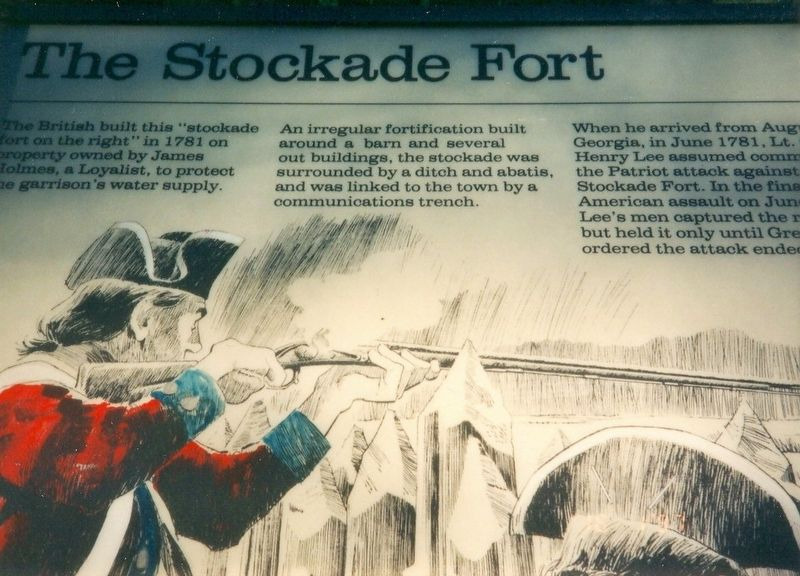 The Stockade Fort Marker image. Click for full size.