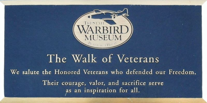 Tri-State Warbird Museum Marker image. Click for full size.