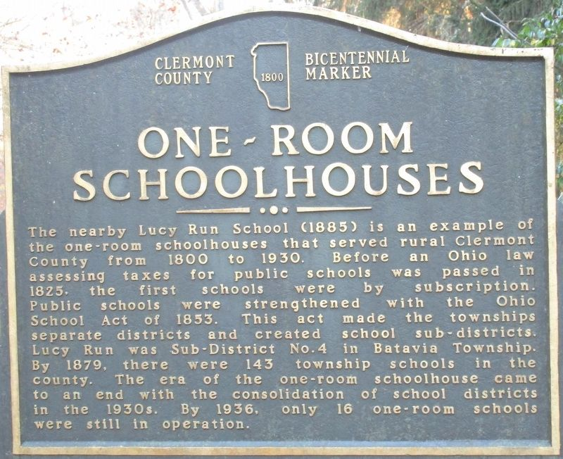 One-Room Schoolhouses Marker image. Click for full size.