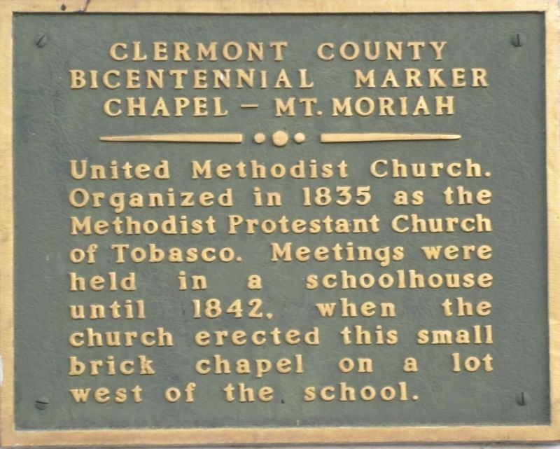 Mt. Moriah Marker image. Click for full size.