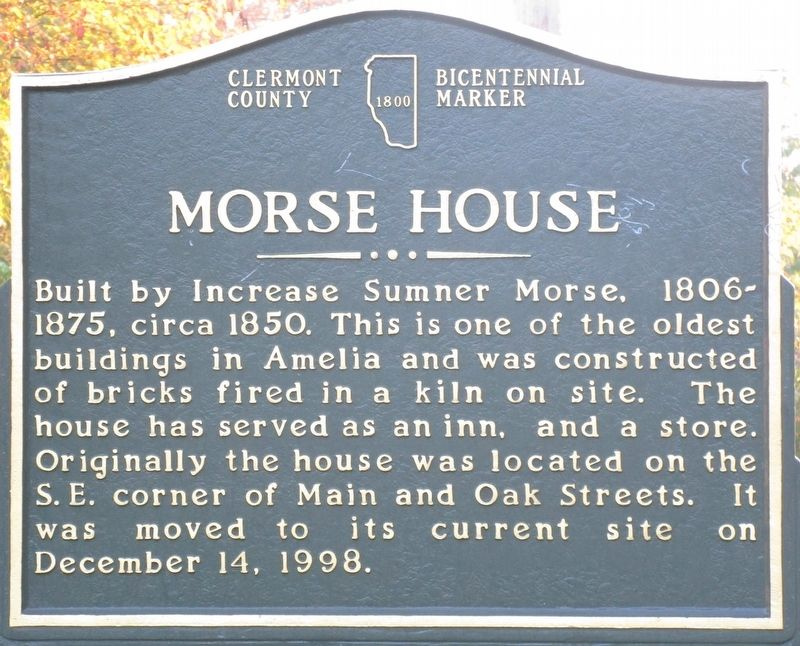 Morse House Marker image. Click for full size.