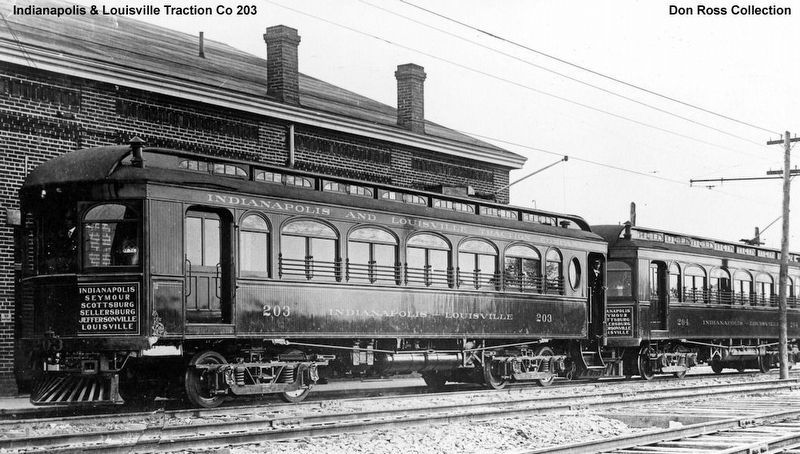 Indianapolis & Louisville Traction Co 203 image. Click for full size.