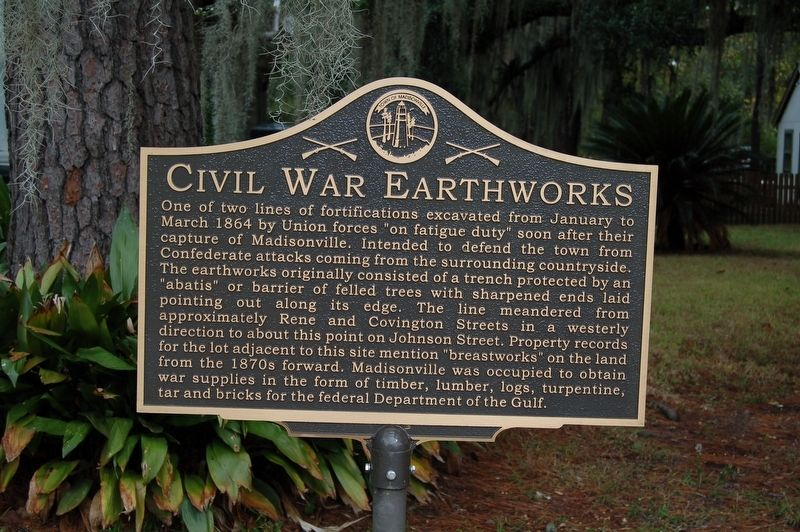 Civil War Earthworks Marker image. Click for full size.