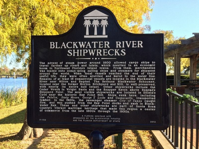 Blackwater River Shipwrecks Marker image. Click for full size.