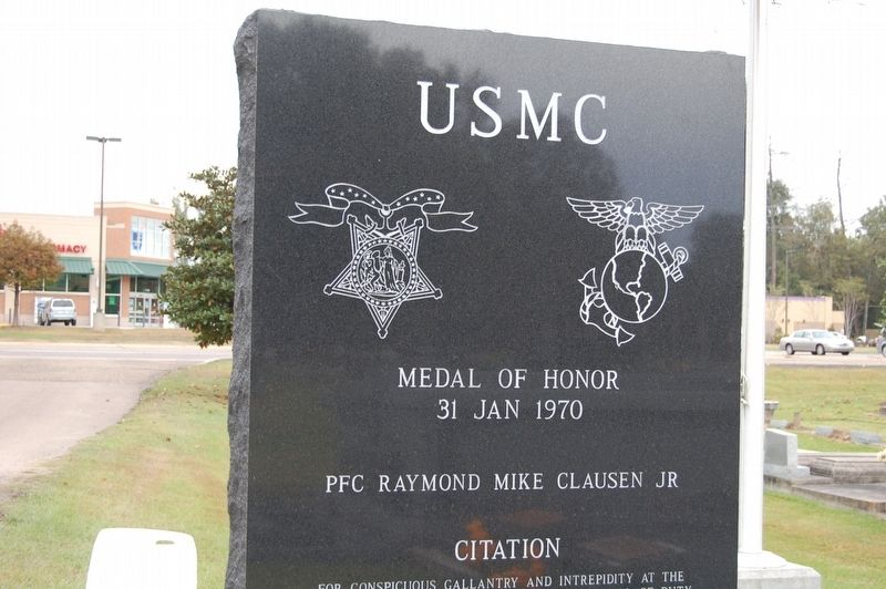"PFC Raymond ""Mike"" Clausen, Jr. Marker image. Click for full size."