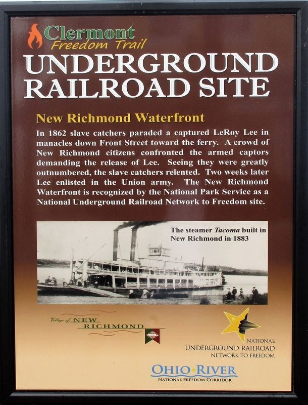 Underground Railroad Site Marker image. Click for full size.