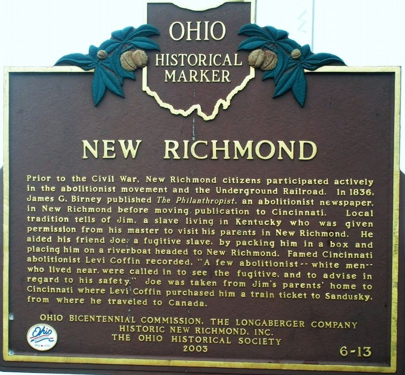 New Richmond Marker image. Click for full size.