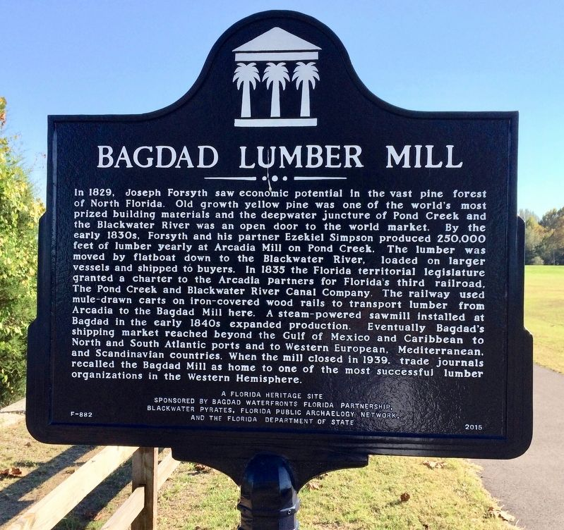 Bagdad Lumber Mill Marker image. Click for full size.