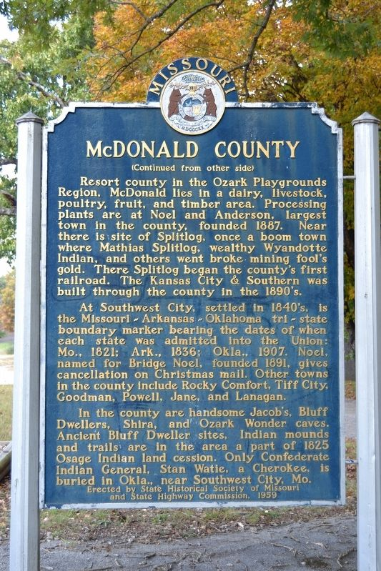 McDonald County Marker image. Click for full size.