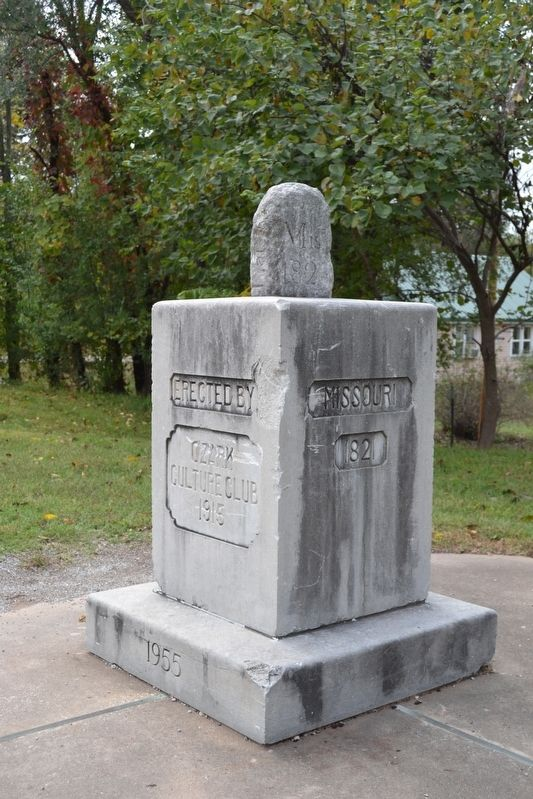 MO-AR-OK Tri-State Boundary Marker near Southwest City image. Click for full size.