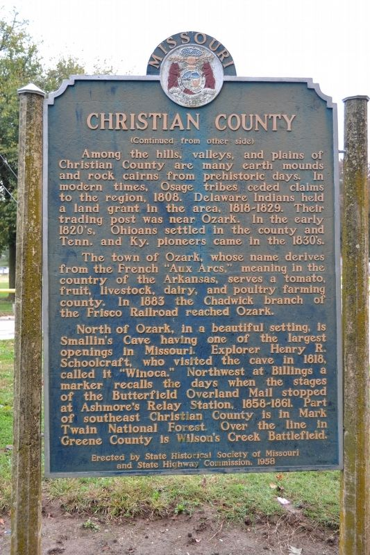 Christian County Marker image. Click for full size.