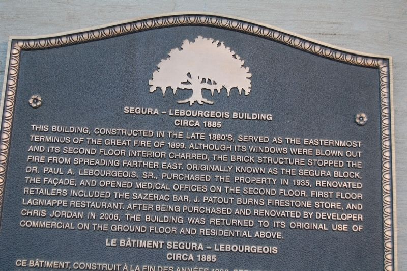 Segura - Labourgeois Building Marker image. Click for full size.