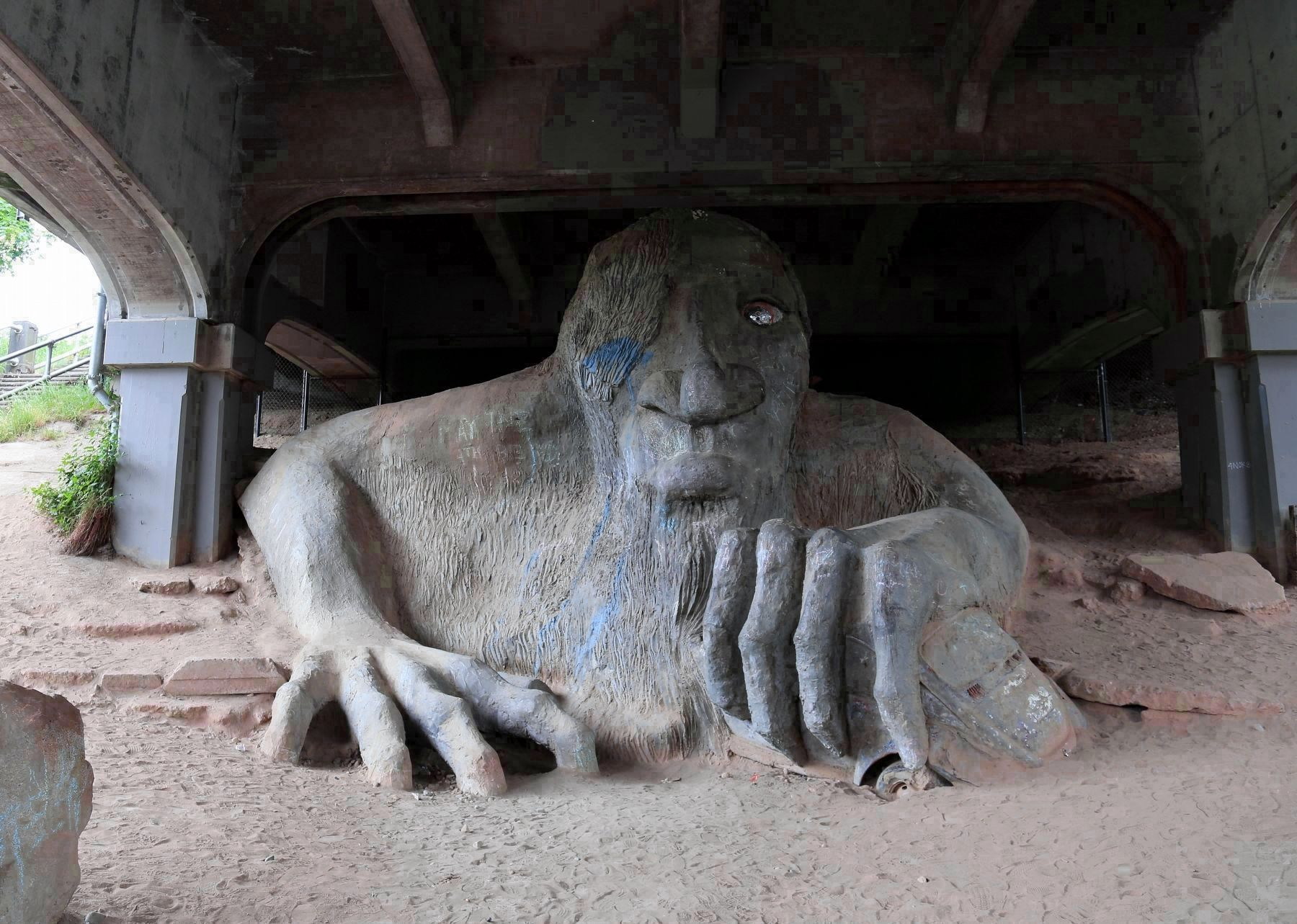 The Fremont Troll image. Click for full size.