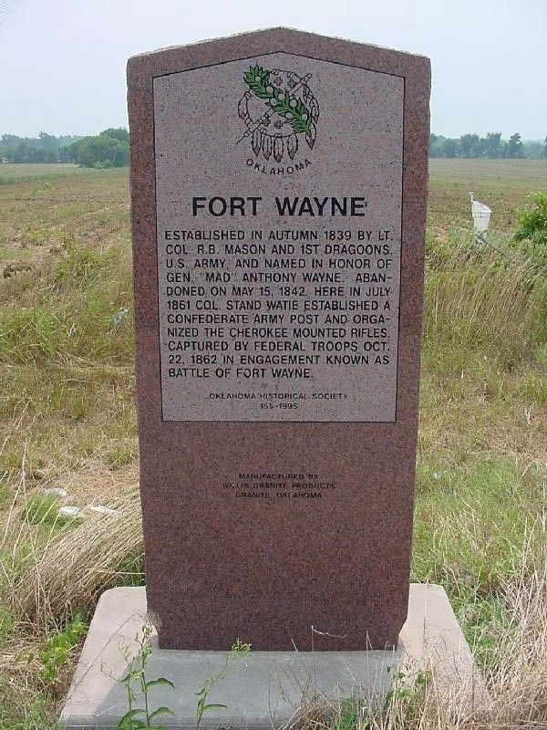 Fort Wayne Marker before 2009 image. Click for full size.