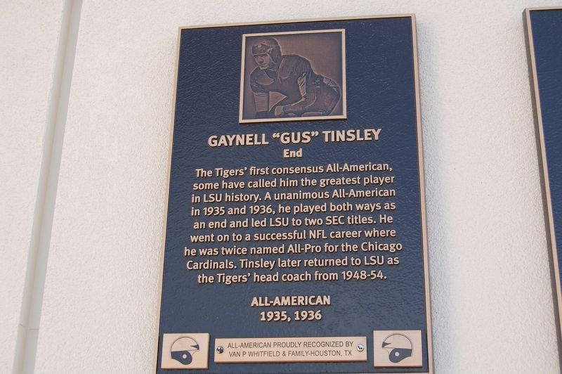 "Gaynell ""Gus"" Tinsley Marker image. Click for full size."