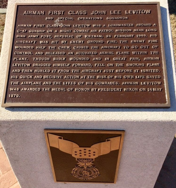 Airman First Class John Lee Levitow Marker image. Click for full size.