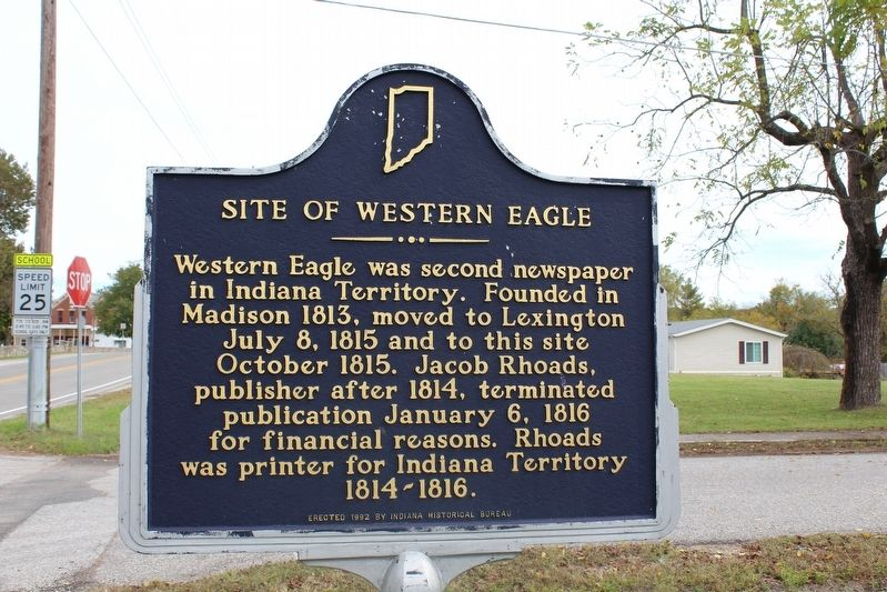 Site of Western Eagle Marker image. Click for full size.