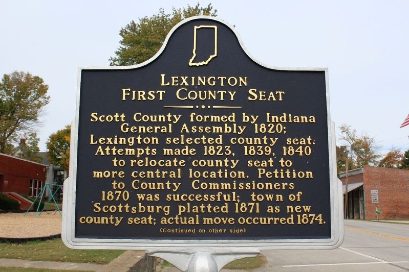 Lexington First County Seat Marker (Side 1) image. Click for full size.