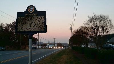 Pfafftown Marker image. Click for full size.
