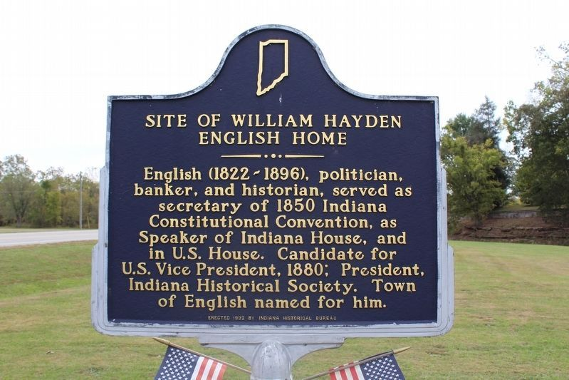 Site of William Hayden English Home Marker image. Click for full size.