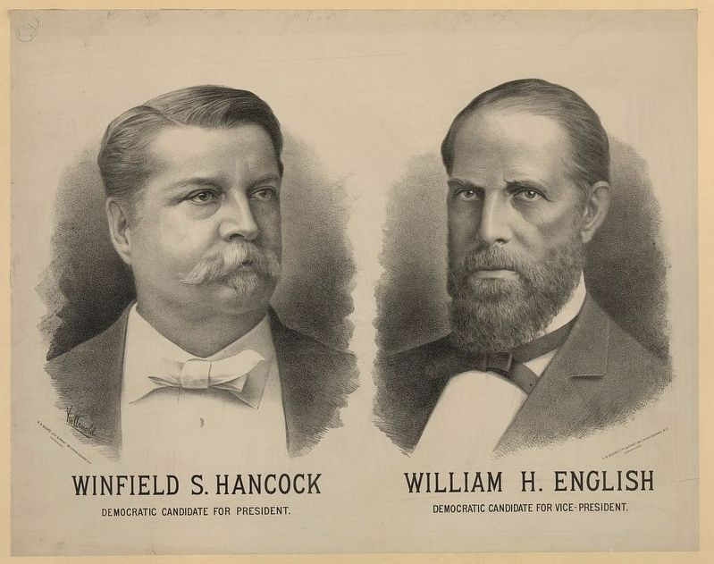 Hancock & English 1880 Presidential Poster image. Click for full size.