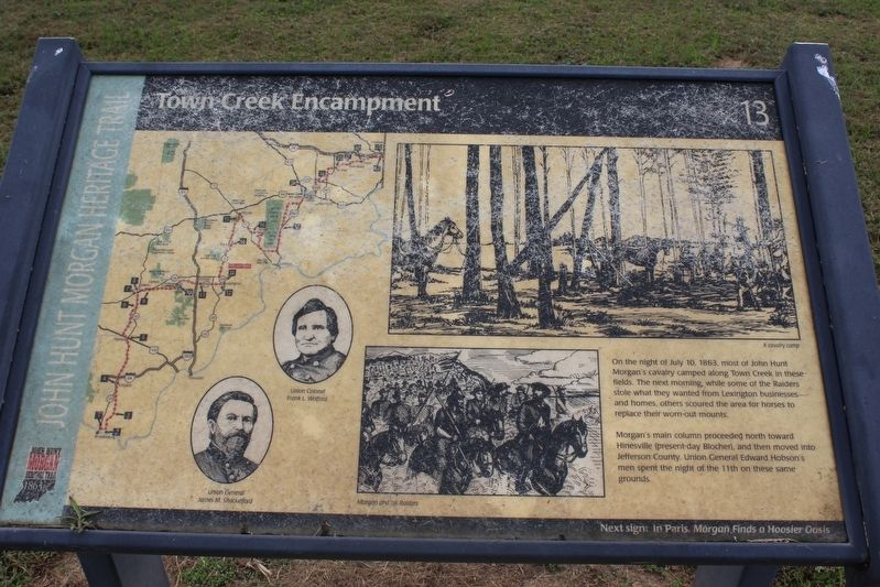 Town Creek Encampment Marker image. Click for full size.