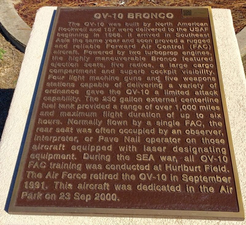 OV-10 Bronco Marker image. Click for full size.