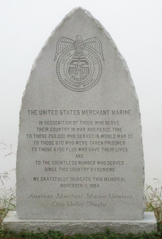 The United States Merchant Marine Marker image. Click for full size.
