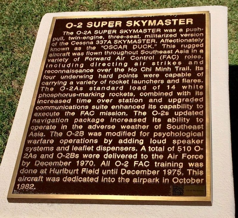 O-2 Super Skymaster Marker image. Click for full size.