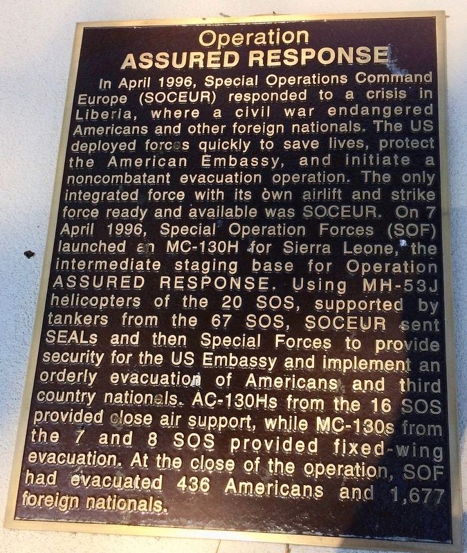 Operation Assured Response Marker image. Click for full size.