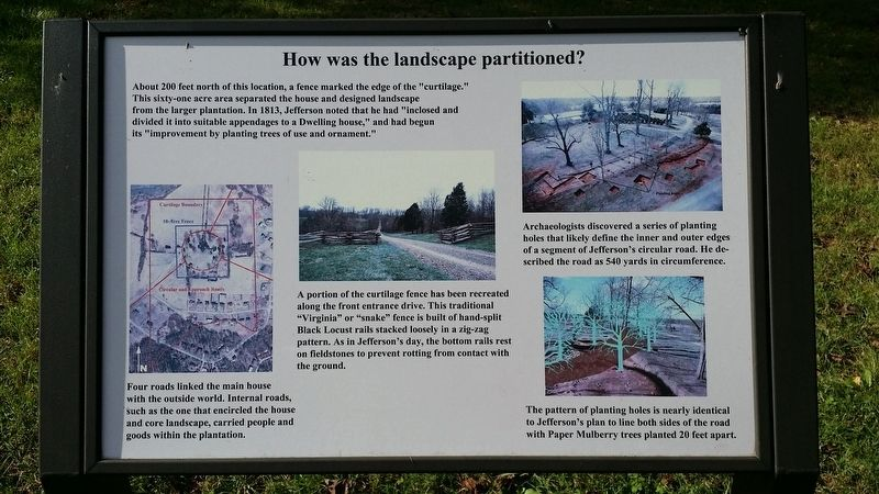 How was the landscape partitioned? Marker image. Click for full size.
