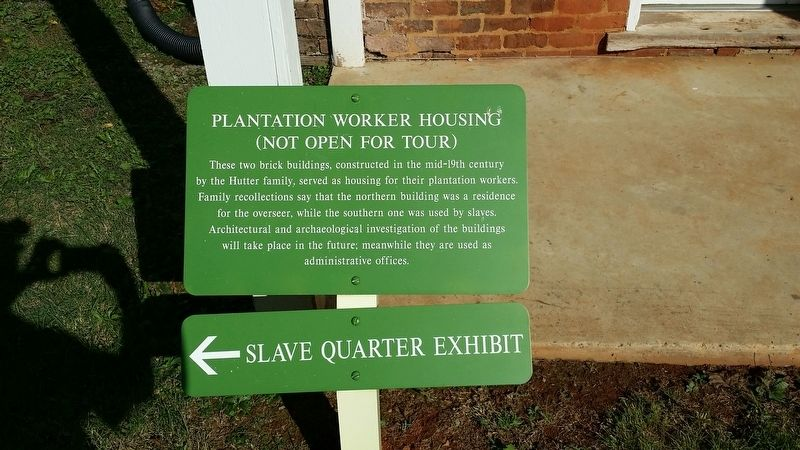 Plantation Worker Housing Marker image. Click for full size.