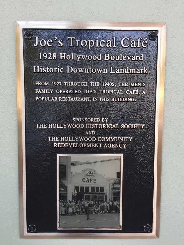 Joe's Tropical Café Marker image. Click for full size.