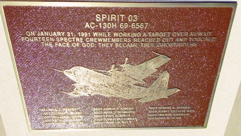 Spirit 03 AC-130 Memorial at Hurlburt Field Memorial Air Park image. Click for full size.