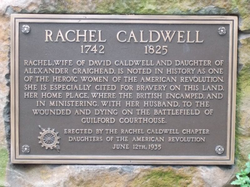 Rachel Caldwell Marker image. Click for full size.