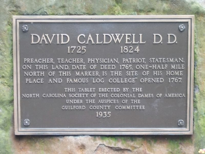 David Caldwell D.D. Marker image. Click for full size.