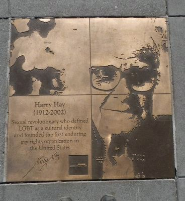 Harry Hay Marker image. Click for full size.