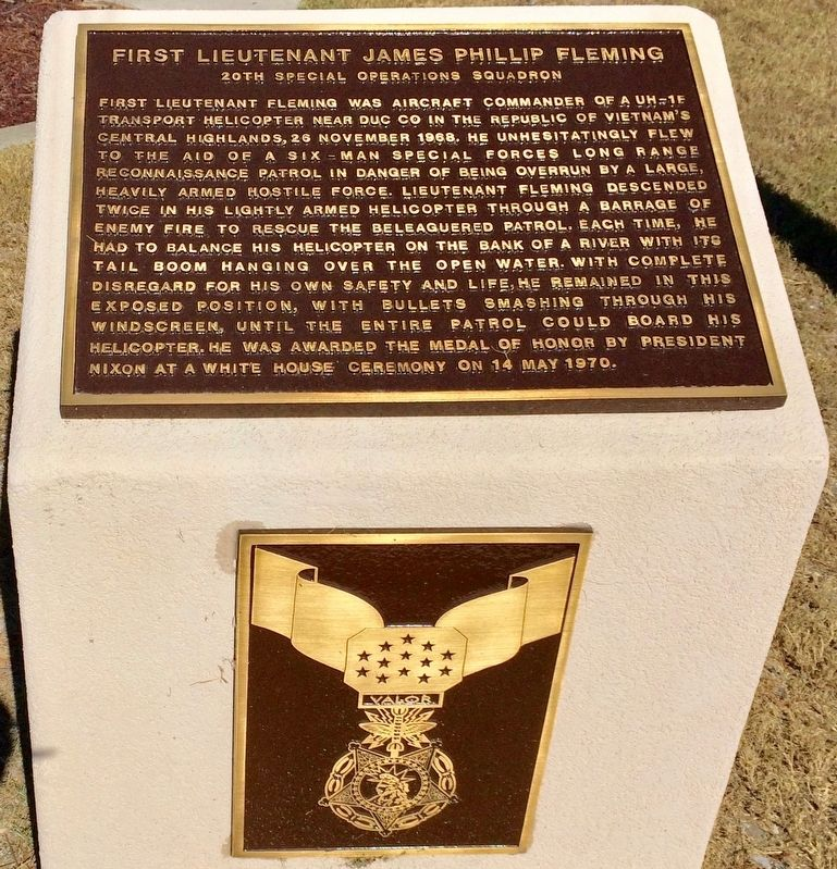 First Lieutenant James Phillip Fleming Marker image. Click for full size.